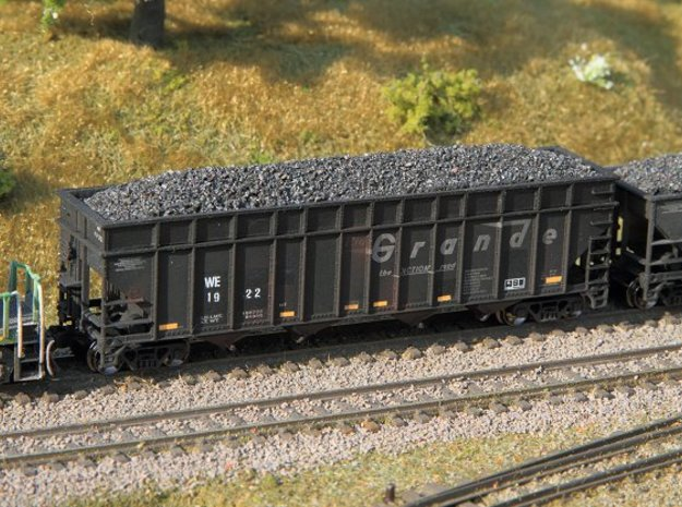4 N scale coke car side extensions for W&LE hopper
