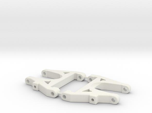 Shorter DS arm V3 in White Natural Versatile Plastic