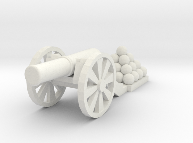 Cannon (Light) - Qty (1) HO 1:87 scale