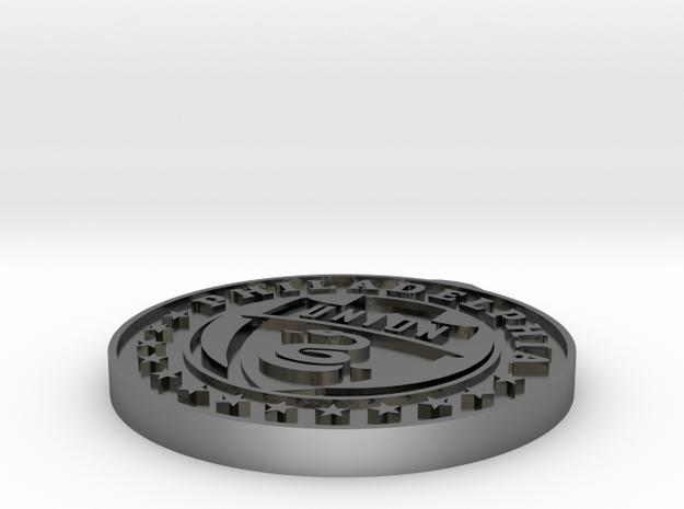 Philadelphia Union Pendant in Fine Detail Polished Silver