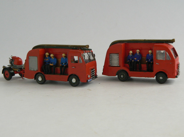 DAF A10 FireTruck 3d printed A10 Fire Truck (at the front) scratch build and finished by Rob Mooij (the Netherlands). At the rear model based on 3D print.