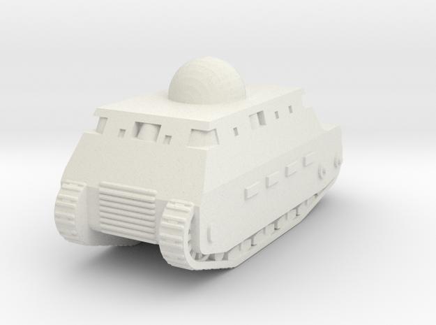 Fiat 2000 Italian WW1 Tank - 1/285 (Qty. 1) in White Strong & Flexible