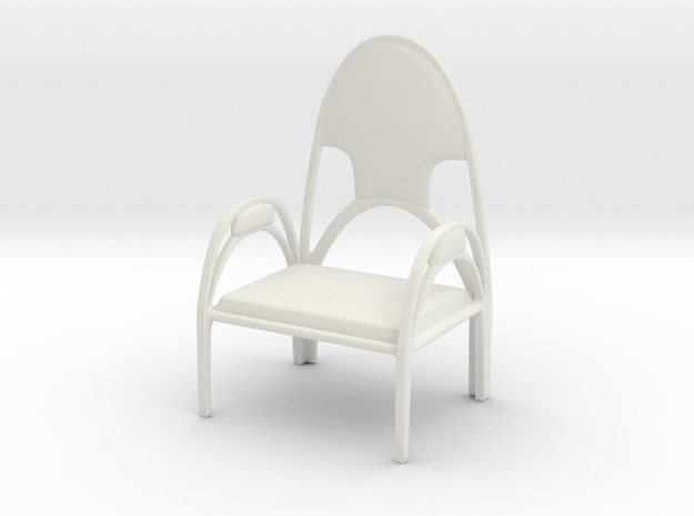 Chair No. 42 in White Natural Versatile Plastic