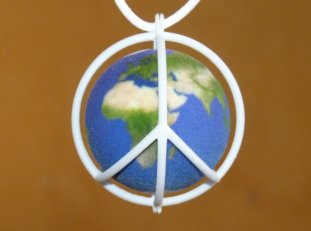 World Peace III (Globe) 3d printed Full color sandstone globe