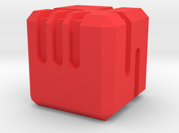 Scifi Dice in Red Processed Versatile Plastic