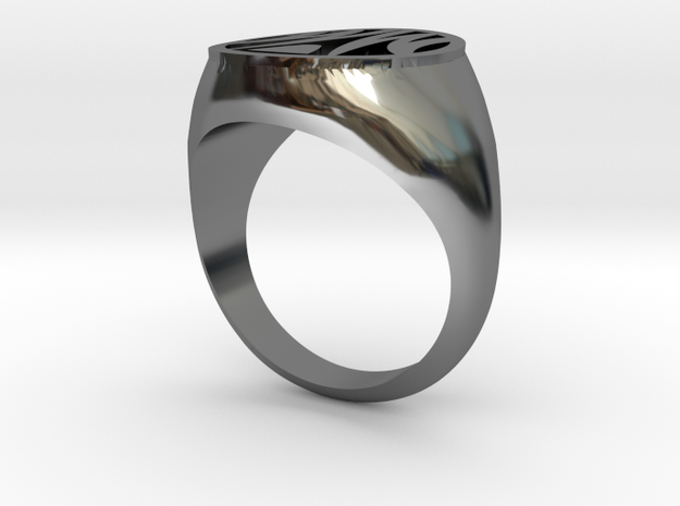 Misfit Ring Size 7 in Fine Detail Polished Silver