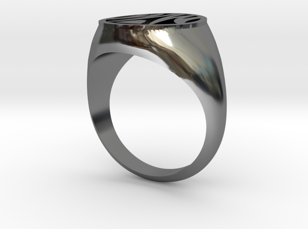 Misfit Ring Size 9 in Fine Detail Polished Silver