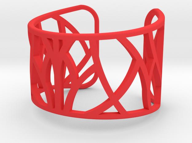 Zette Bangle in Red Processed Versatile Plastic