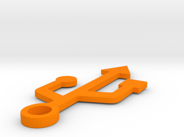 USB in Orange Processed Versatile Plastic
