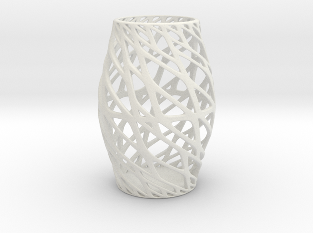 Art Vase 3 160mm in White Strong & Flexible