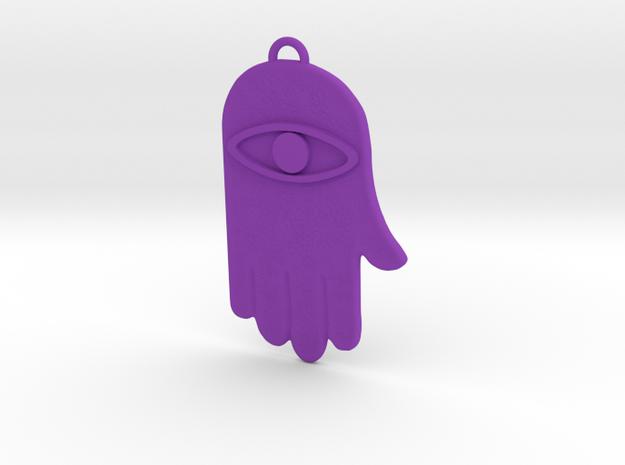 Hamsa Hand Pendant 3d printed
