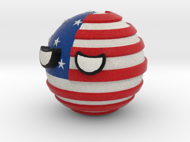 Countryballs USA in Full Color Sandstone