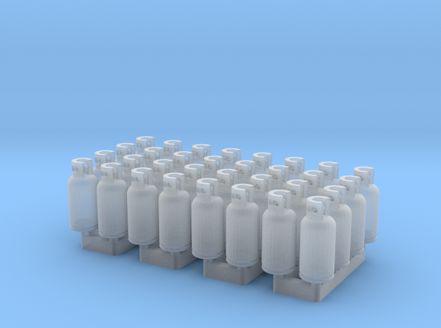 LPG Tanks 10kg, 32pc., N-scale in Smooth Fine Detail Plastic