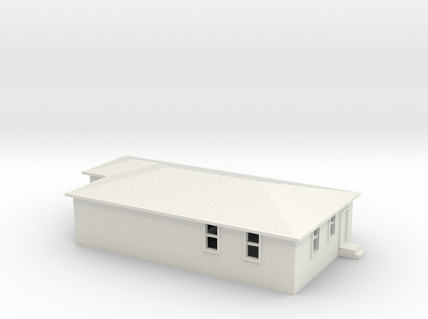 N Scale Australian House #2A in White Natural Versatile Plastic