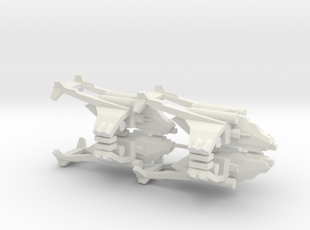 [5] 4x Assault Gunship (Revised Sprue) in White Natural Versatile Plastic