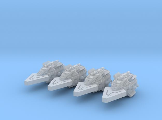 VA103A Feral Thrust Class Frigate (x4) 3d printed