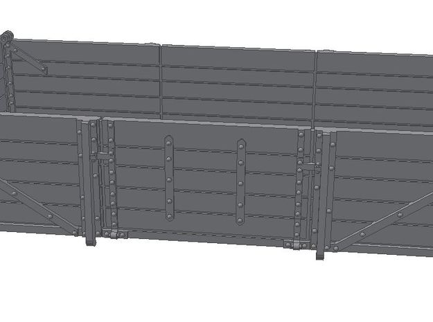2x 2mm Scale GWR China Clay Wagon Bodies in Frosted Ultra Detail