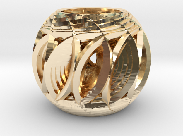 Hyper-Sphere 01 in 14k Gold Plated