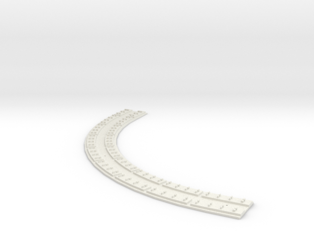 "HO Concrete Direct Fixtation 7"" Radius Track 90deg"
