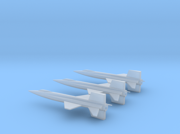 1/285 NAA X-15 ROCKET PLANE (3) in Smooth Fine Detail Plastic