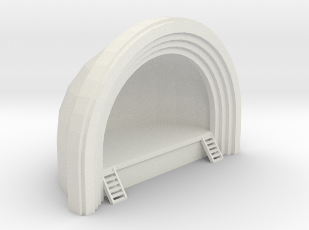 Concert Band Shell - HO 87:1 Scale in White Natural Versatile Plastic