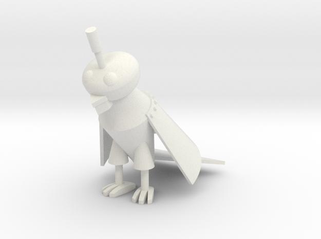 1:6 scale Silver Parrot in White Natural Versatile Plastic