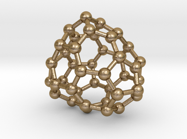 0239 Fullerene C42-18 c1 in Polished Gold Steel