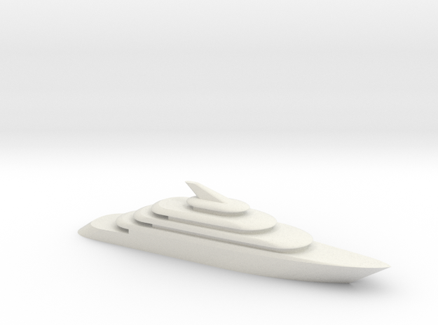 80m Yacht Model 3d printed