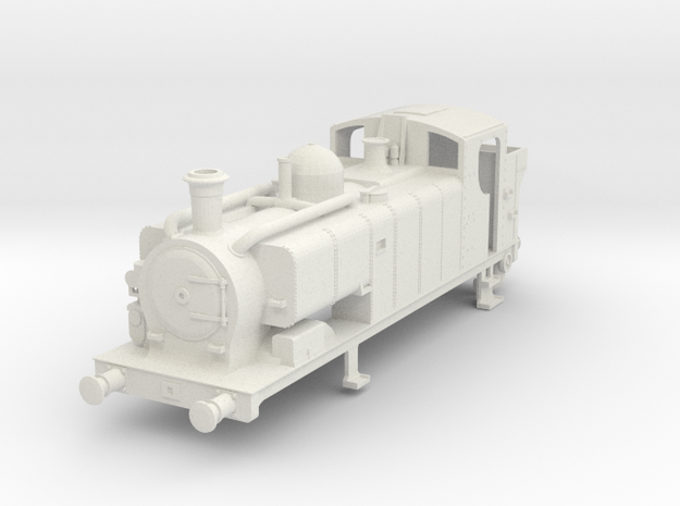 Body for 00 gauge GWR 97xx Condensing Pannier Tank in White Natural Versatile Plastic