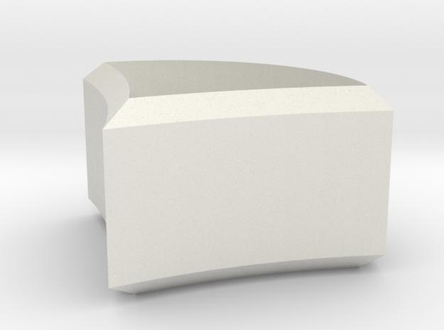 Wall mount pommel decorative skirt piece (pt 2/3) in White Natural Versatile Plastic
