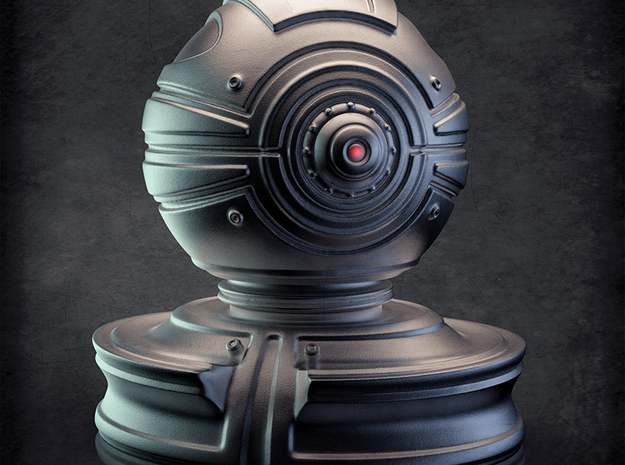 'Robust' robot bust design, model M7-003 in Full Color Sandstone