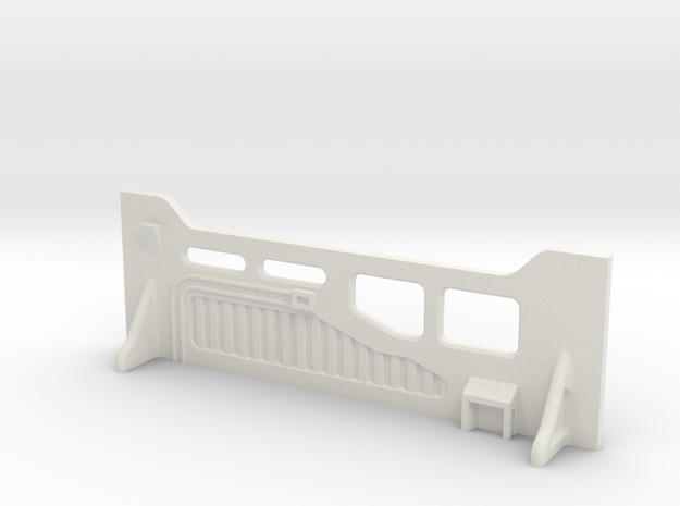 Sci-Fi Barrier / Wall / Corridor With Windows in White Natural Versatile Plastic