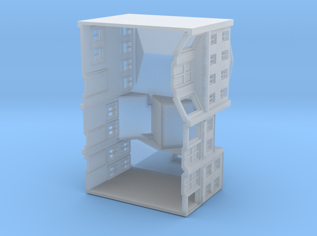 Three High Street Shops 3d printed