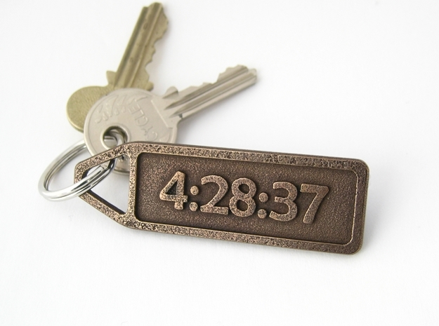 Customized Keychain - Running Keychain in Polished Bronze Steel