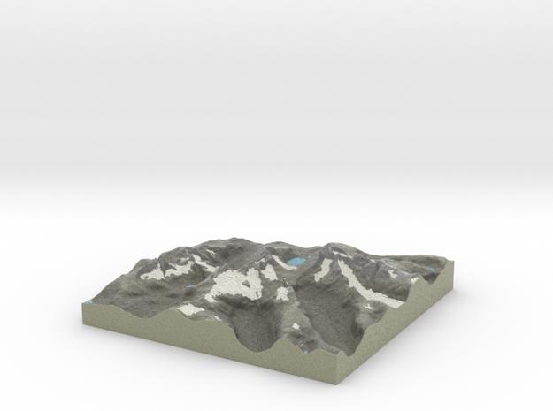 Terrafab generated model Mon Jun 29 2015 10:18:25  in Full Color Sandstone