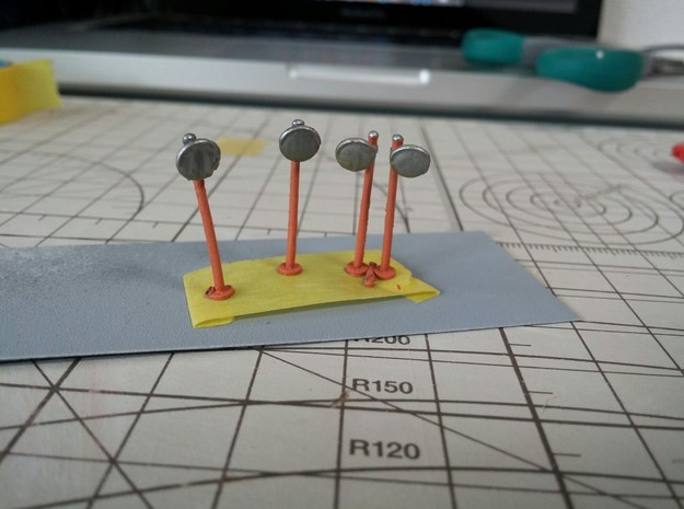Corner Mirrors (24pc.) N-gauge in Frosted Ultra Detail