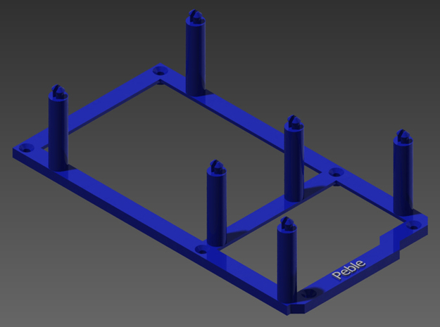 High desktop stand for Arduino Mega in Blue Strong & Flexible Polished
