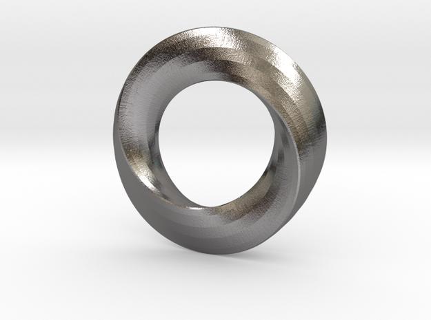 twisted moebius  in Polished Nickel Steel