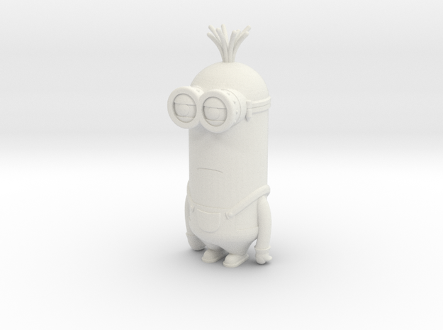 Minion Kevin in White Natural Versatile Plastic