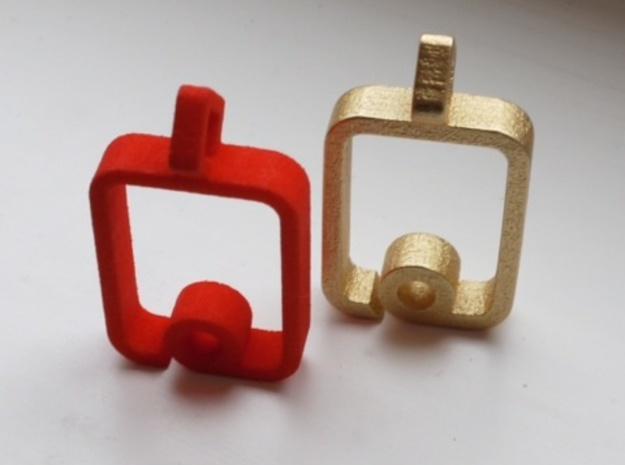 myPad Pendant 3d printed Coral Red Strong & Flexible