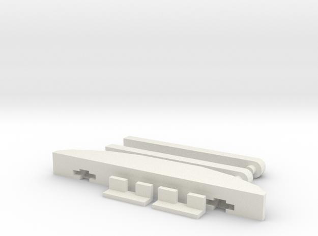 1/10 Rc Hood Tilt Brace kit in White Natural Versatile Plastic
