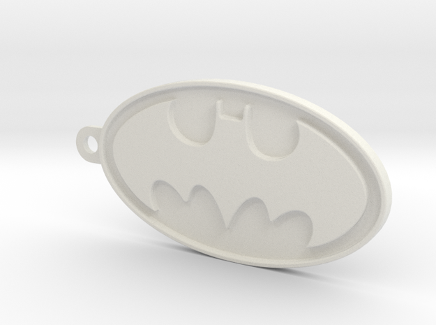 Batman Keyring in White Natural Versatile Plastic