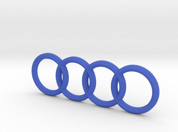 Audi Vehicle Emblem (Rear) in Blue Processed Versatile Plastic