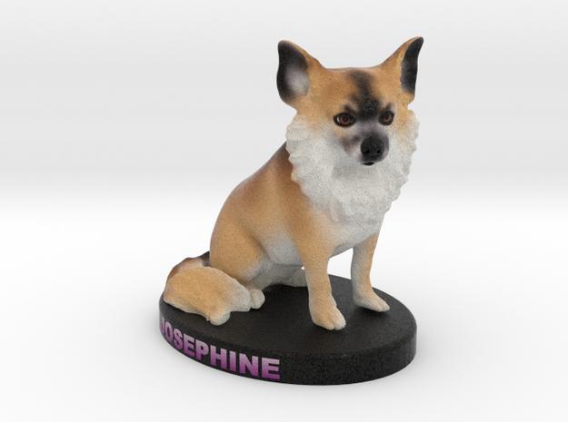 Custom Dog Figurine - Josephine in Full Color Sandstone