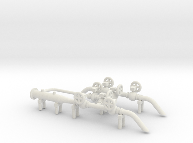 O Scale Pig Launcher in White Natural Versatile Plastic