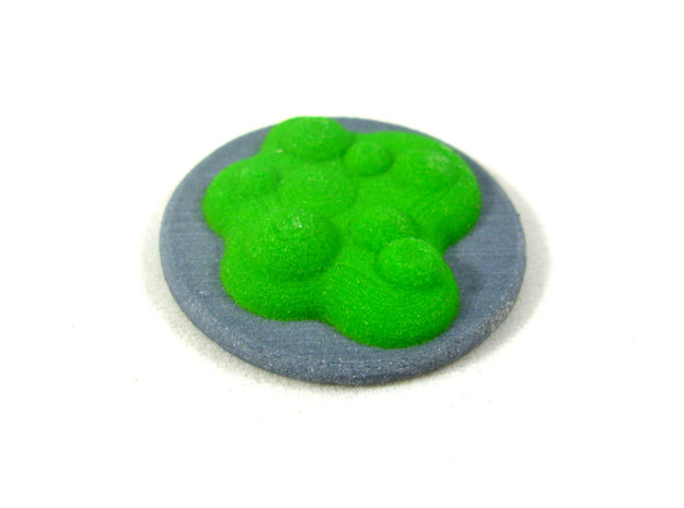 Chemical Spill Token With Base, Toxic or Poison in Full Color Sandstone