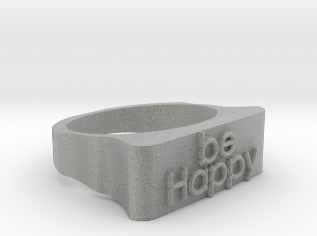 Be Happy Ring size 18,5mm in Metallic Plastic