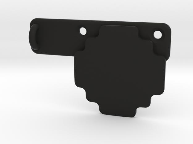 Contour Rotating Flat Surface Mount Supplement in Black Natural Versatile Plastic