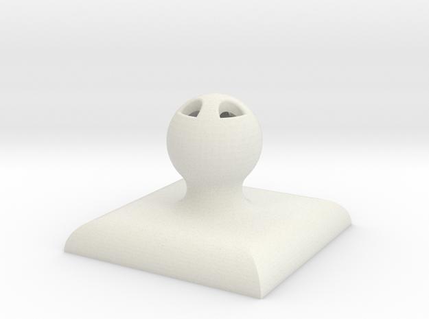 "2""x2"" Customizable Stamper/Seal in White Natural Versatile Plastic"