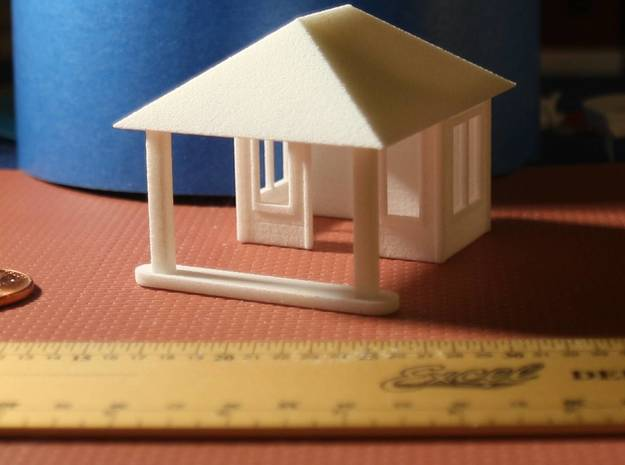 Quig's Esso Main Building HO Scale 3d printed